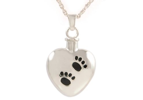 Heart With Black Paws Pendant