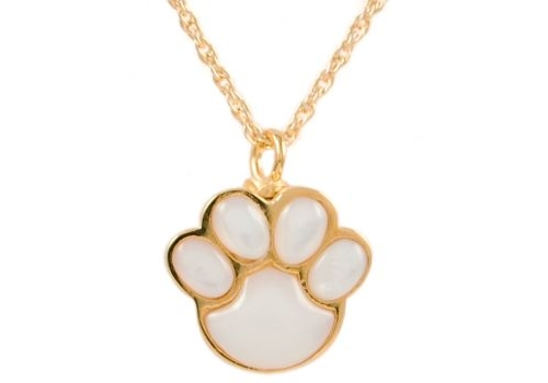 Mother of Pearl Paw Gold Pendant