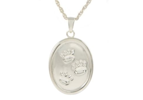Oval With Paws Pendant