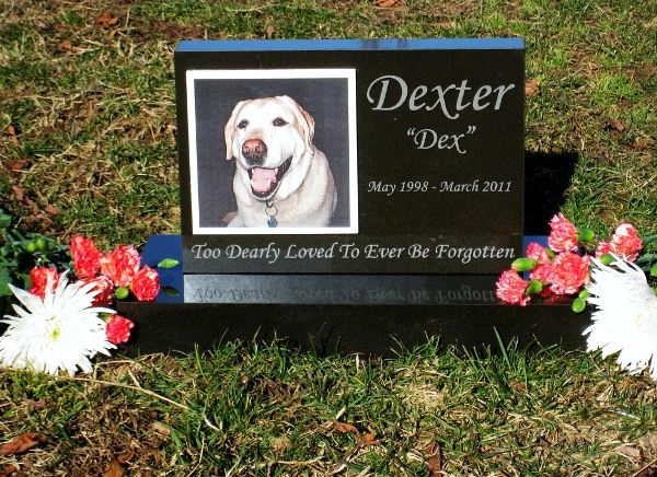 Premium Absolute Black Granite Photo Tile Pet Monument