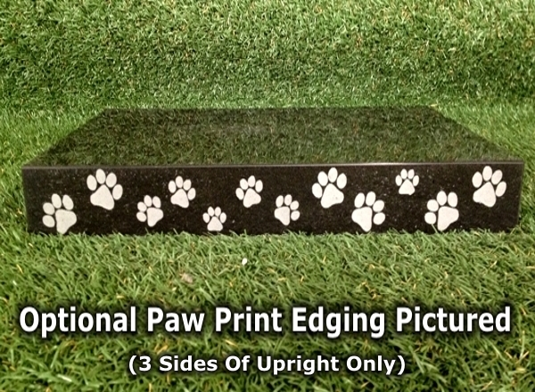 Premium Absolute Black Granite Photo Pet Monument