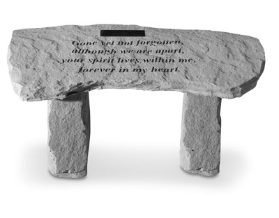 Garden Bench - Gone Yet Not Forgotten (Personalized)