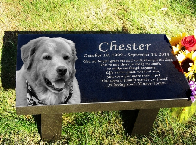 Pet memorial stones pet grave markers pet headstones black granite garden bench publicscrutiny Image collections