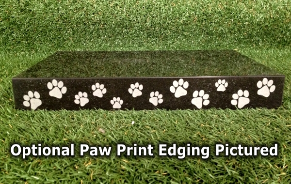 Engraved Photographic Granite Pet Memorial with 5 polished edges