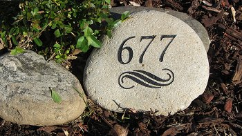Large River Rock Address Marker