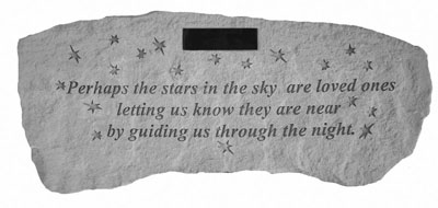 Garden Bench - Perhaps the stars in the sky (Personalized)