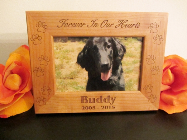 Photo Frame With Paw Prints