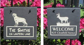 Slate Square Address Marker