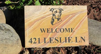 Small TN Golden Flagstone Address Marker