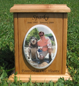 Wooden Color Photo Tile Urns