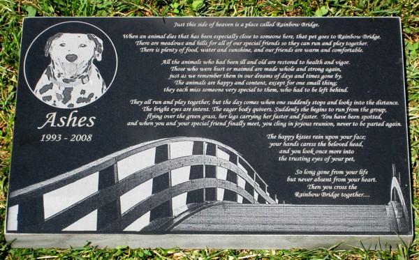 Rainbow Bridge Memorial Stone : Pet memorial stones grave markers headstones