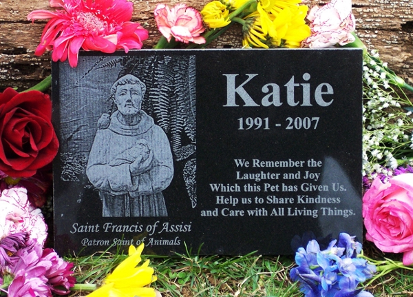 Saint Francis Granite Pet Memorial